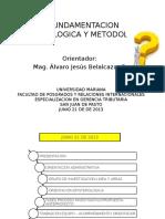 Fundamentacion Epistemologica y Metodologica