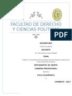 Análisis Y Comentarios De Las Relaciones Del Derecho Laboral Con Otras Disciplinas Jurídicas