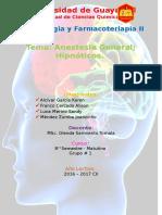 Anestesia e Hipnoticos