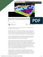 Reservoir Characterization Process - Vol 1