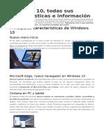 Windows 10 Caracteristicas