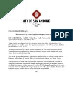 Alamo Master Plan News Releases