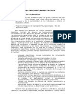 Metodos de Evaluación Neuropsicológica - Resumen