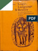 Logic Language and Reality - Bimal Krishna Matilal
