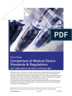 White Paper Comparison ISO13485 and US FDA CFR Part 820