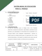 PROGRAMACIÓN ANUAL DE EDUCACIÓN PARA EL TRABAJO  1° Y 2° - ROSA TEJADA VIGO - JUAN VELASCO ALVARADO - TOLON