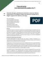 Derechos de Agua y Distribución Social de Los Recursos Hídricos Subterráneos en El Registro Público de Derechos de Agua de La Región Lagunera de Coahuila y Durango