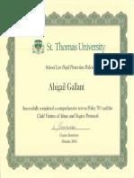 701 certificate