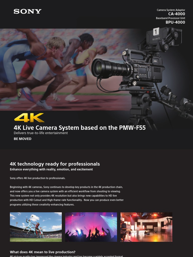 4k Live Production F55 Brochure Usb Zoom Lens Sony Ccu Intercom Wiring Harness