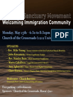 The New Sanctuary Movement - Welcoming Immigration Community Forum