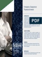 Formulacion de Proyectos de Inversion