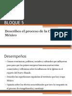 BLOQUE 5 Describes El Proceso de Conquista de México 1