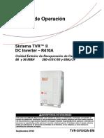 TVR II Heat Recovery - Manual de Operación (Español)