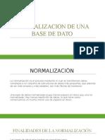 Normalizacion de Una Base de Dato