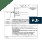 1.1.2 SOP Jenis-jenis Dan Cara Pengelolaan Survei Kepuasan Pelanggan Di Puskesmas