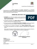 Orden 045 Subrogancia