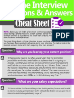Phone Interview Cheat Sheet