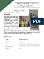 123, SPECS-GAS-123, Mini QGM Floating Gas Trap, Rev 2