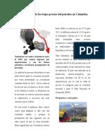 Consecuencias de Los Bajos Precios Del Petróleo en Colombia