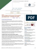 ConJur - Otávio Fonseca_ Novo CPC Quebra Paradigma Das _condições Da Ação