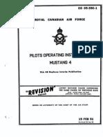 Mustang Manual RCAF June 28 1952