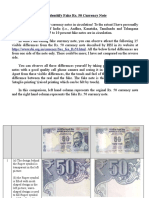 How to Identify Fake 50 Rupee Currency Notes