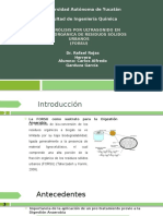 Pre-hidrólisis Por Ultrasonido en Fracción Orgánica de Residuos