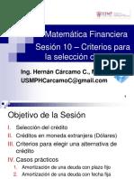 Matemática Financiera Sesión 10