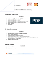 Syllabus for Wind Turbine Training Tabahan