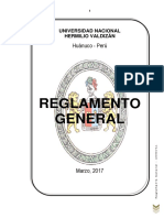 Reglamento General de La Unheval
