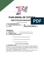 Plan Anual de Tutoria
