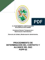POPP-03 Contexto Organizacion
