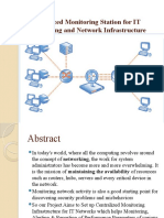 Centralized Monitoring Station for IT Computing and Network Infrastructure