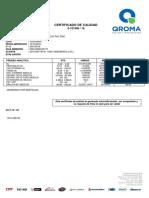 Certificado Jethane Rojo