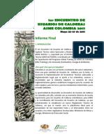 Informe Final 1er Encuentro de Usuarios de Calderas ASME Colombia