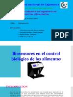 Biosensores en El Control Biologico de Los Alimentos.