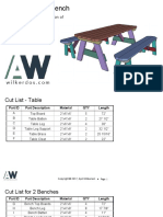 Picinic Table Bench