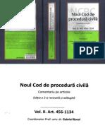 Noul Cod de Procedura Civila Vol II Art. 1-455 2016
