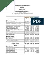 Avance Análisis Financieros Paramonga Saa