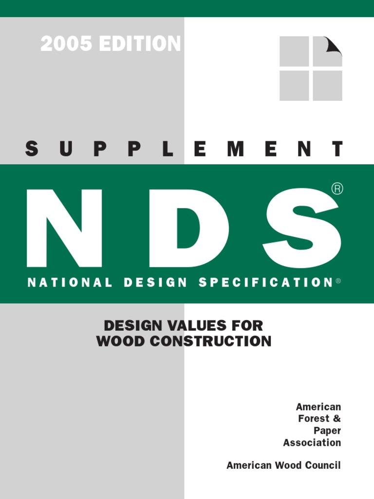 Awc Nds2005 Supplement 0905 Lumber Douglas Fir