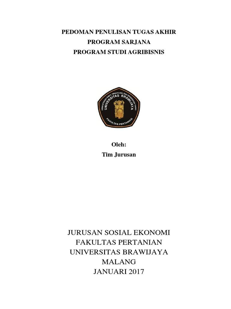 20900 Pedoman Penulisan Tugas Akhir Ps Agb Fp Ub Error Dan Residual Analisis Regresi