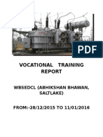 Vocational Training Report