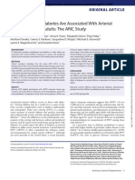 Prediabetes and Diabetes Are Associated With Arterial Stiffness in Older Adults- The ARIC Study
