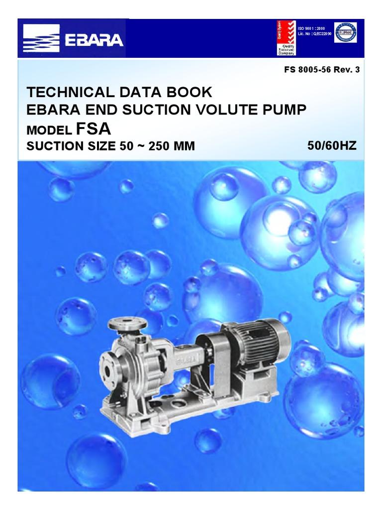 Pump Ebara Catalogue EBARA FSA | Pump | Bronze