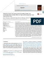 10.1016 j.appet.2016.08.008 Subjective Mood and Energy Levels of Healthy Weight and Overweight Obese Healthy Adults on High and Low Glycemic Load Experimental Diets