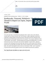 Earthquake, Tsunami, Meltdown - The Triple Disaster's Impact on Japan, Impact on the World _ Brookings Institution