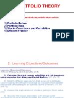 CFEA3230 Portfolio Theory Lecture 3