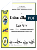SSG Election Certificate 2015 and 2016