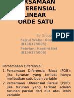 Ppt Persamaan Diferensial Orde Satu