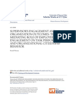 004- 2016 Highly Important Supervisor-s Engagement and Organization Outcomes- The Mediating